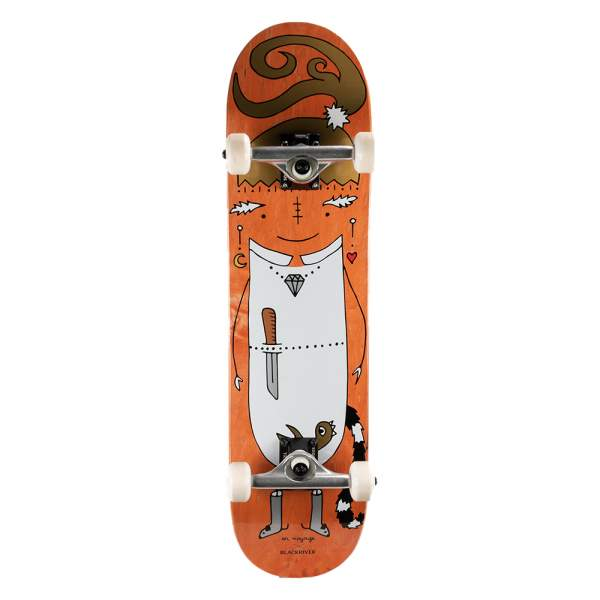 "Blackriver Complete Starter Skateboard ""EnVoyage - Huntress Orange"" Size 7.875"