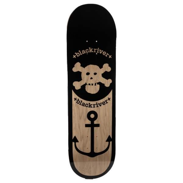 "Blackriver Skateboard ""Anchor Wood dark"" 8.675"