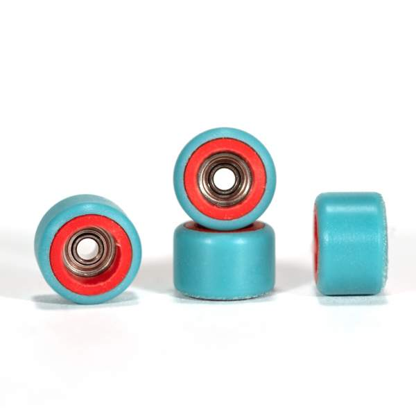 FlatFace Wheels Dual Durometer Red/Turquoise