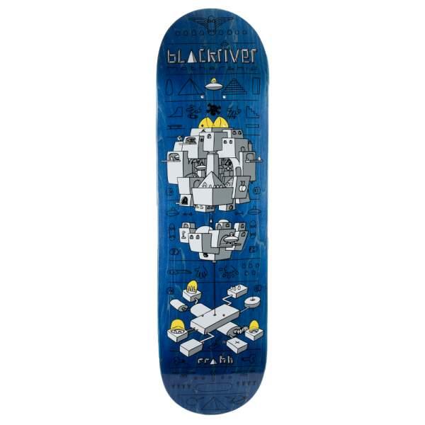 "Blackriver Skateboard ""Mothership Blue"" Size 8.5"
