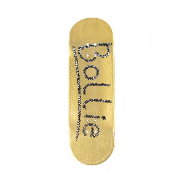 Bollie Fingerboard Logo Leaves gold