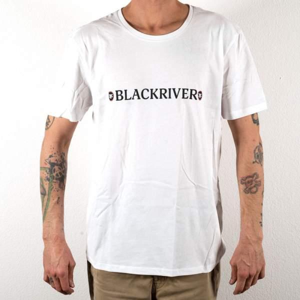 """Blackriver T-Shirt """"New Skull"""" white"""