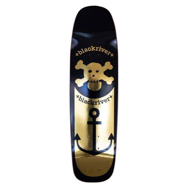 "Blackriver Skateboard Square Shape ""Anchor Gold"" 8.7"