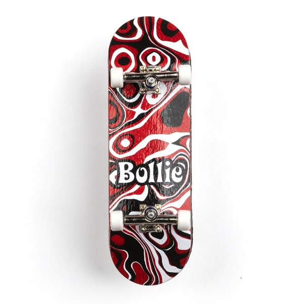 """Bollie Fingerboard """"Psychedelic"""" red Set"""