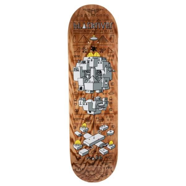 "Blackriver Skateboard ""Mothership Wood"" Size 8.675"