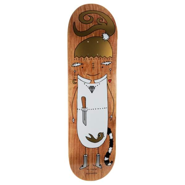 "Blackriver Skateboard ""EnVoyage - Huntress Wood dark"" Size 8.675"