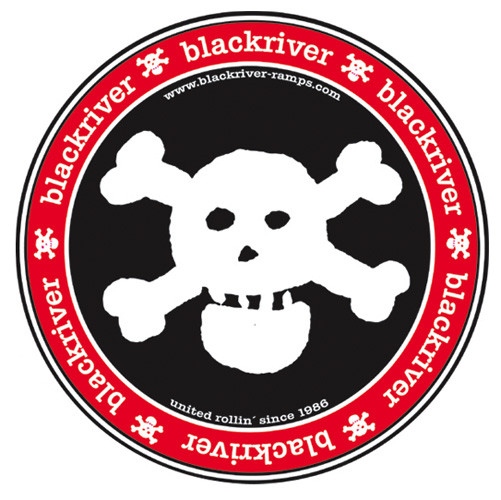 "+blackriver-ramps+ Sticker XL ""Blackriver Skull"""