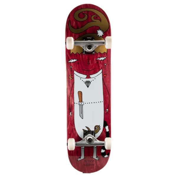 """Blackriver Complete Starter Skateboard """"EnVoyage - Huntress Red"""" Size 8.25"""