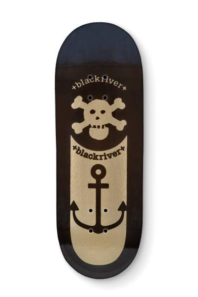 "Blackriver Fingerboard 7Ply ""Blackriver Anchor black"" X-Wide 33,3mm"