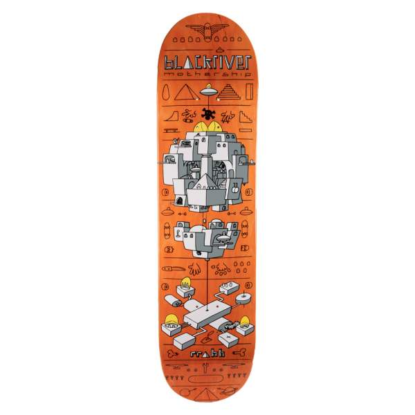 "Blackriver Skateboard ""Mothership Orange"" Size 7.875"