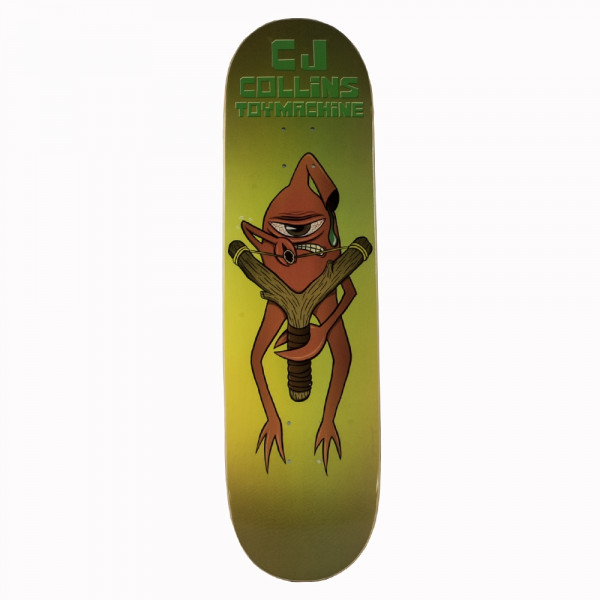 "Toy Machine Skateboard ""CJ Collins Slingshot"" size 8.38"