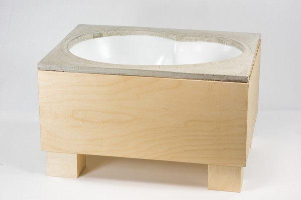 "Crazyleg ""Bowl"" Concrete white incl. Table"