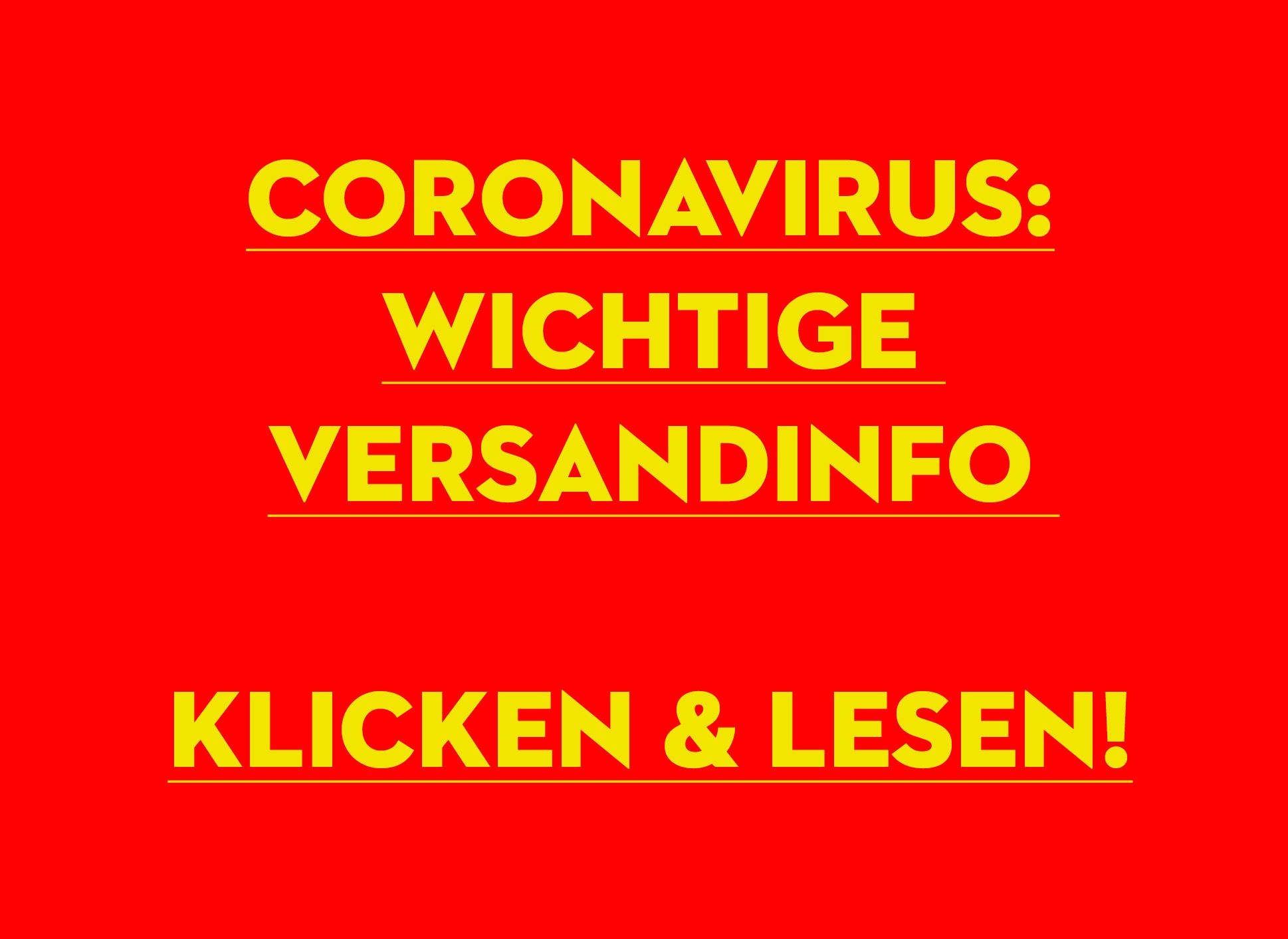 Corona Versandinfos