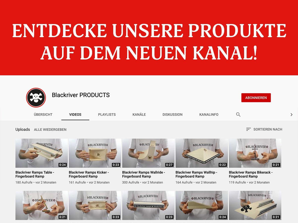Wir stellen vor: der Blackriver PRODUCTS YouTube Kanal.