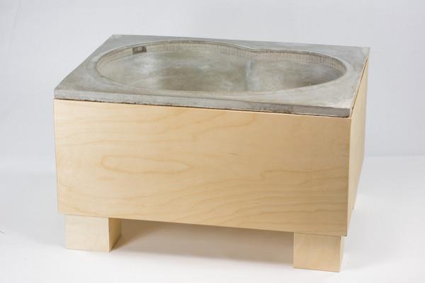 "Crazyleg ""Bowl"" Concrete incl. Table"