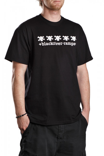 +blackriver-ramps+ T-Shirt, 5 Skulls black