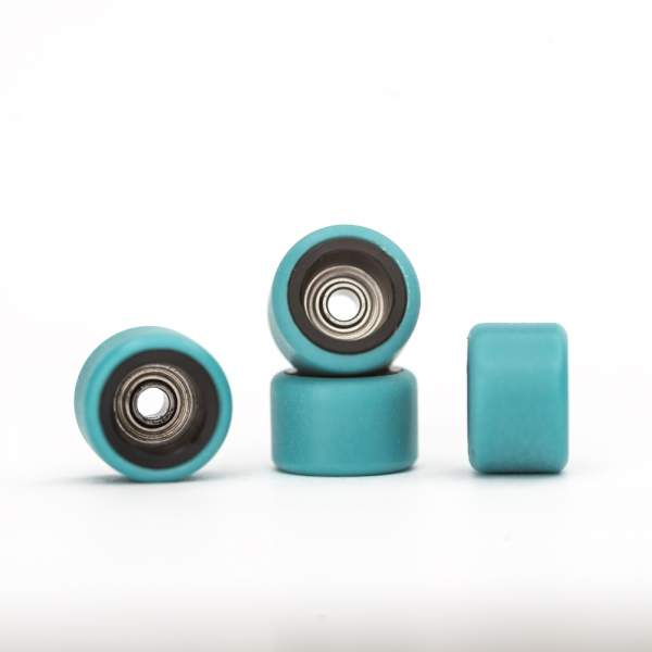 FlatFace Wheels Dual Durometer Black/Turquoise