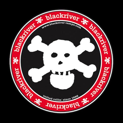 """Blackriver Banner """"Classic Skull"""""""