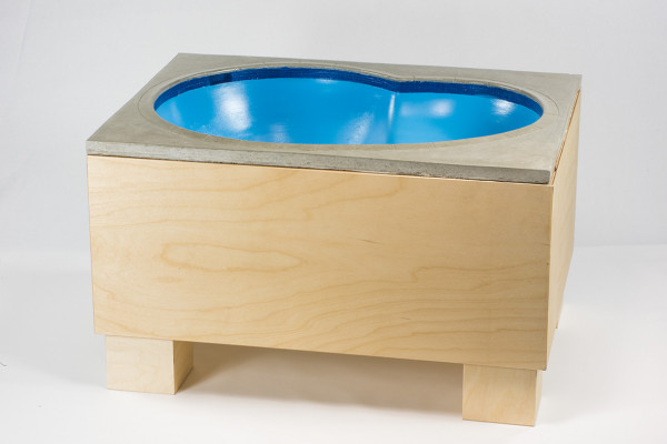 "Crazyleg ""Bowl"" Concrete blue incl. Table"