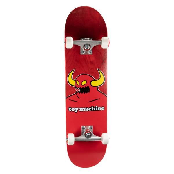 "Toy Machine Complete Starter Skateboard ""Monster Red"" 8.125"