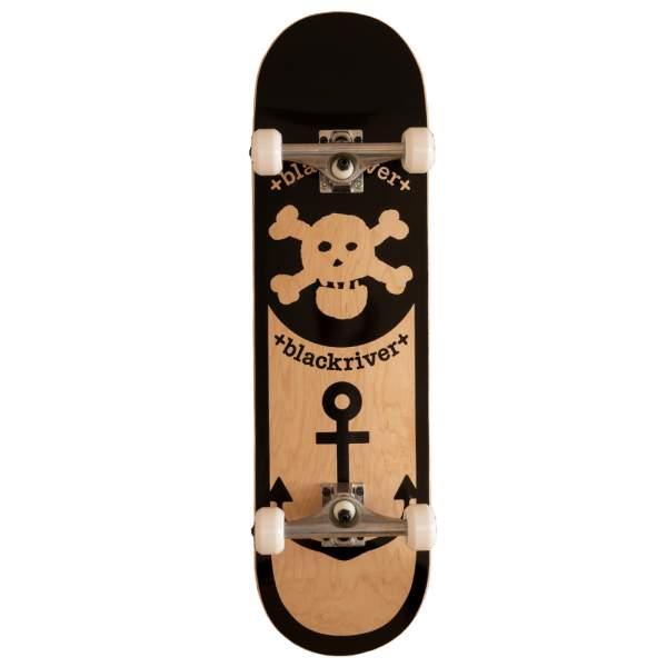 """Blackriver Complete Starter Skateboard """"Anchor Nature"""" Size 8.5"""