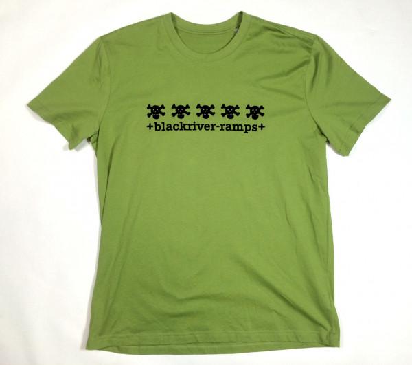 +blackriver-ramps+ T-Shirt, 5 Skulls green/black