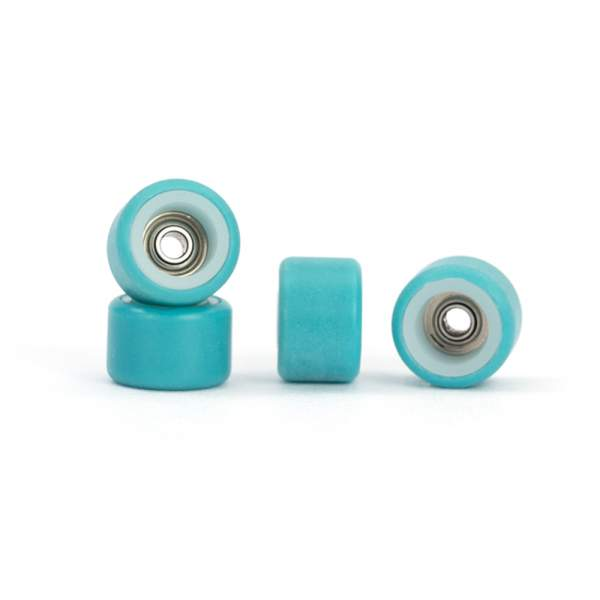 FlatFace Wheels Dual Durometer White/Turquoise